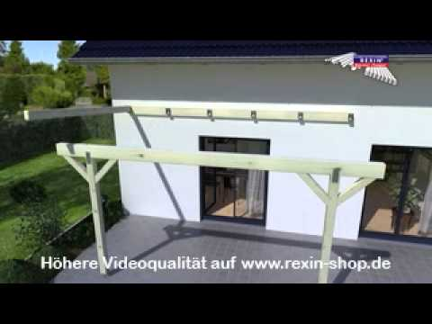 3D Aufbauanleitung Terrassendach 2 (Unterkonstruktion)