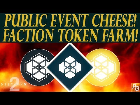 Destiny 2: Best Faction Token Farm! Do The SAME Public Event Twice! (Public Event Cheese)