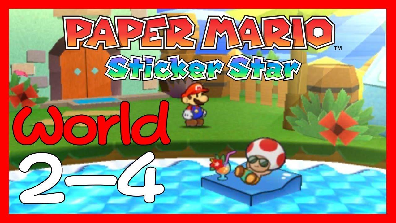 Paper Mario: Sticker Star Walkthrough 2 4 (World 2-4) Damp Oasis