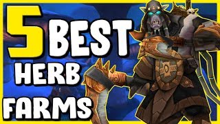Top 5 Best Herb Farms In WoW BFA - Gold Farming, Gold Making