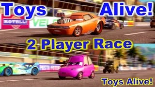 Cars 2: The video game - 2 player splitscreen Race on Casino Tour