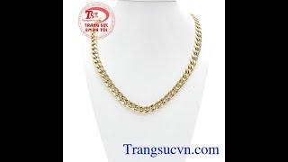 Dây Chuyền Vàng Nam Cá Tính, Dây chuyền nam vàng tây, TSVN003341