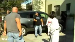 Karate fighter Woman Beats up a Very Strong Man
