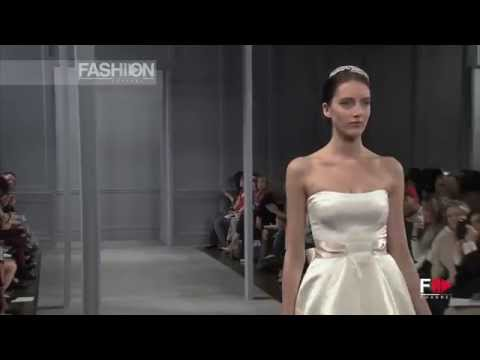 """MONIQUE LHUILLIER"" Bridal Fall 2014 Collection by Fashion Channel"