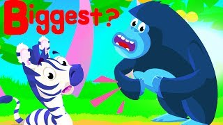 BIGGEST ANIMAL IN THE SAFARI 🦁 Police Car Chase 🚨  Where are my Stripes, Baby T-Rex  by Little Angel