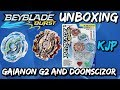 Beyblade Burst Unboxing, QR Codes, and Test (Gaianon G2 and Doomscizor)