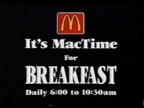 McDonalds Big Breakfast Commercial (1994) (Australia)