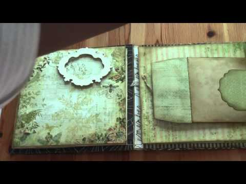 Scrapbook Tutorial: Donna's Curio Mini  Album Pt 1