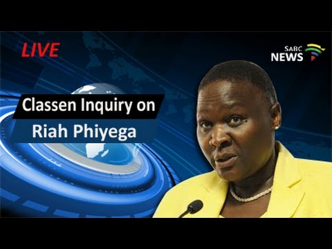 Classen Inquiry on Phiyega: Closing arguments, 03 June 2016