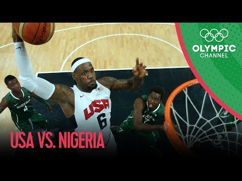 Usa V Nigeria   Usa Break Olympic Points Record   Men's Basketball Group A   London 2012 Olympics