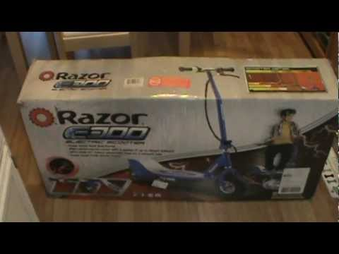 Razor E300 Electric Scooter >> Unboxing: Razor E300 Electric Scooter - YouTube