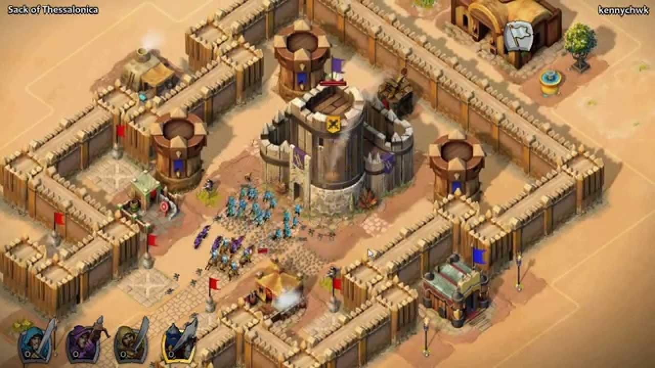 Aoe castle siege thessalonica walk though youtube