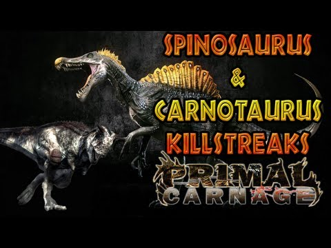 Primal Carnage: Get to the Chopper - Spinosaurus & Carnotaurus Kill Streak