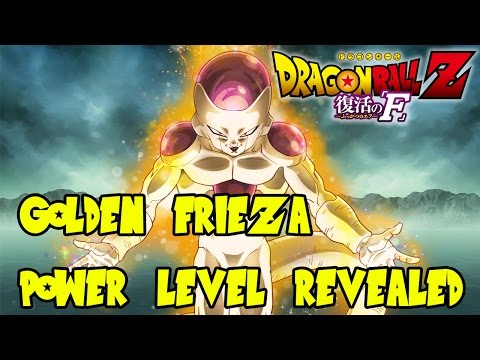 Dragon Ball Z Fukkatsu No F (resurrection F): Golden Frieza Power Level Revealed video