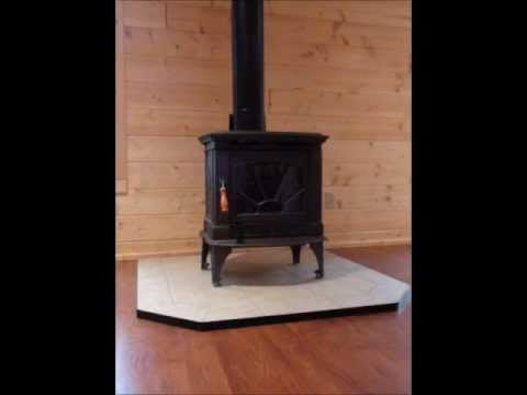 Country Fireplace - Install of a free standing wood stove. Minocqua, WI - YouTube