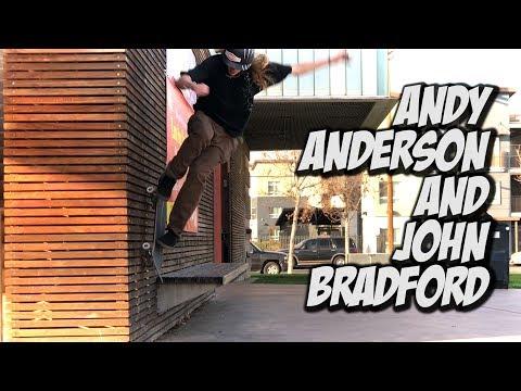 ANDY ANDERSON AND JOHN BRADFORD SKATE DAY !!! - NKA VIDS -