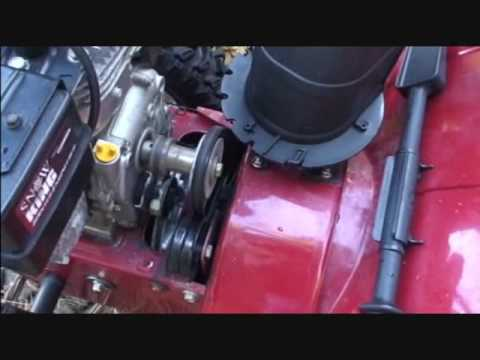 How To Replace The Belts On The Old Mtd Snowblower Part 1