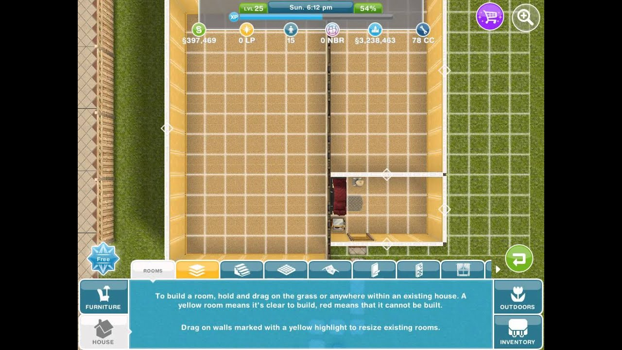 Simsfreeplay how to add a second floorupdated youtube for How to make a second floor on sims freeplay