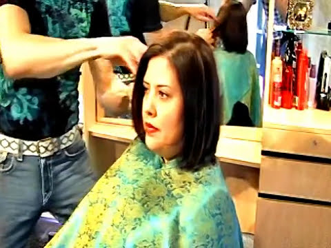 TOP HAIR STYLIST -   Tony Franza - www.TonyFranza.com - demonstrates latest hair cutting techniques