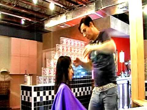 TOP HAIR STYLIST -   Tony Franza - www.TonyFranza.com - demonstrates latest hair cutting techniques