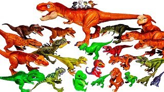 Lots of Dinosaurs, Jurassic World Tyrannosaurus T-rex, snap squad, Toy Story, Schleich Toys