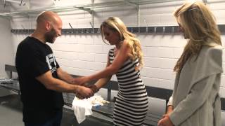 UFC Octagon Girls Carly Baker and Kristie Pearson learning self defence with Ricky Manetta