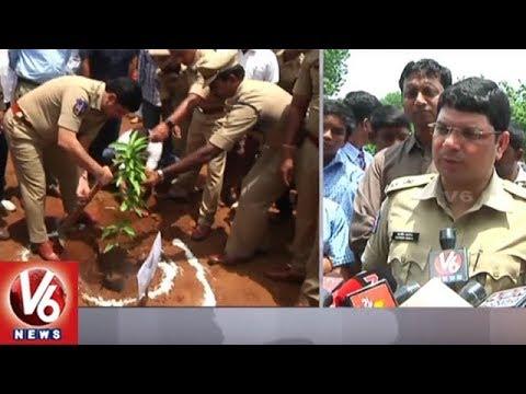 Khammam CP & Municipal Commissioner Participates In Haritha Haram Plantation Drive | V6 News