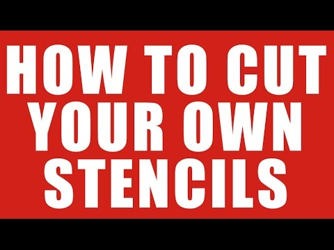 how to cut your own stencils for painting or airbrushing. Black Bedroom Furniture Sets. Home Design Ideas