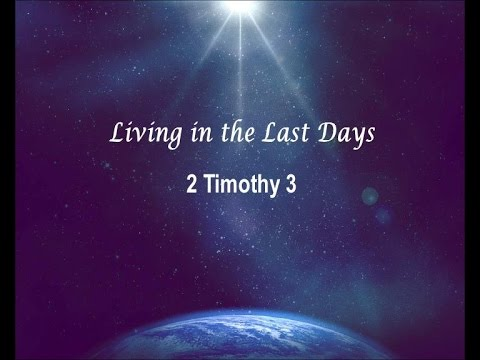 Living in the Last Days - Faith in Life's Monsoons Sermon Series 5