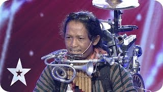 One Man Band by Yon Gondrong - AUDITION 4 - Indonesia's Got Talent [HD]