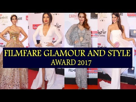 Filmfare Glamour And Style Awards 2017 Red Carpet | Sonam Kapoor,Sonakshi Sinha, Bhoomi Pednekar