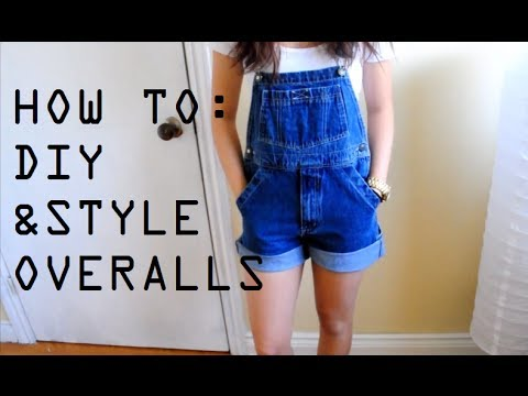 DIY+How I Style Overalls/Dungarees | petitejuls - YouTube