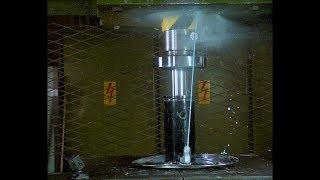 Pushing Non Newtonian Fluid Through Tiny Hole with Hydraulic Press