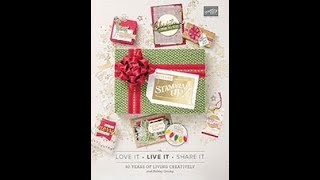 Stampin' Up! 2018 Holiday Catalog unboxing