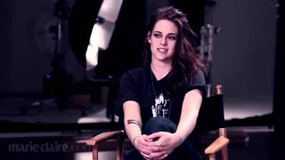 Kristen Stewart BTS of Marie Claire Photoshoot 2014