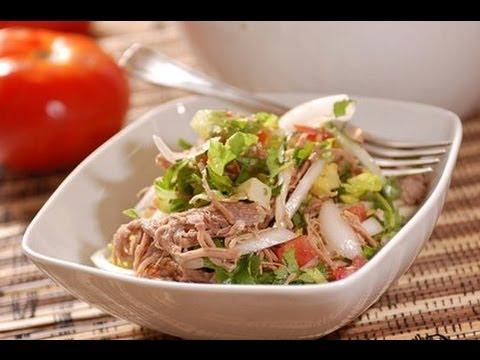 Ensalada de carne - Meat salad - Recetas de cocina fácil