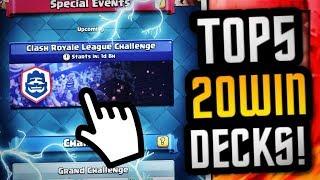 Top 5 BEST DECKS to get 20 WINS in CRL CHALLENGE!