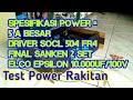 Bass Nya Mantap | Tes Power Rakitan Driver SOCL 504 | 2 Set Sanken