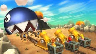Mario Party 9 MiniGames - Mario Vs Luigi Vs Daisy Vs Peach (Master Difficulty)