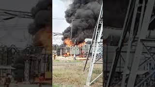 FIRE at 100 MVA POWER TRANSFORMER