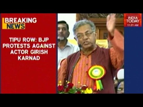 Tipu Sultan Would've Been Hailed If He Was Hindu: BJP's Girish Karnad