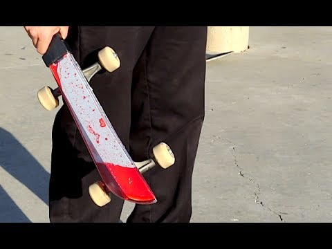 WILL IT SKATE ?!? - Bloody Plastic Knife Friday The 13th Edition Ep. 7