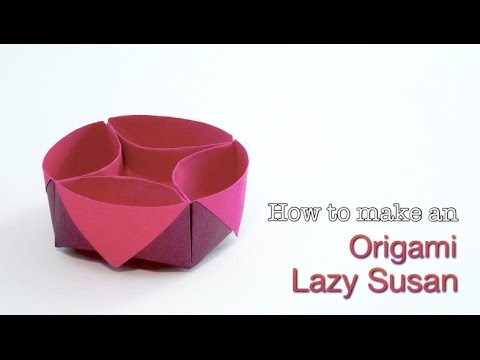 Origami Lazy Susan Container. How To Make An Easy Origami Box/ Paper Box Tutorial.