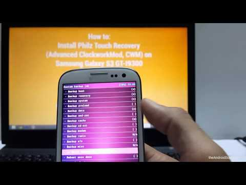 Samsung Galaxy S3 Philz Touch Advanced CWM Recovery installed via Odin ...