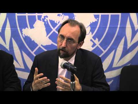 UN High Commissioner for Human Rights Zeid Ra'ad Al Hussein - Presser  (CAR) pt 1