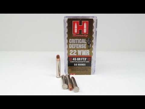 Hornady Critical Defense 22 WMR FTX Denim and Clear Gel Test