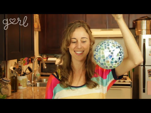 Upcycled CD Disco Ball & Jewelry - Do It, Gurl