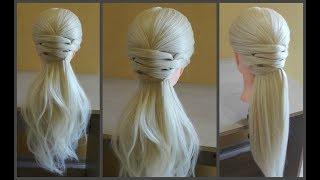 Легкая прическа для длинных средних волос.????Делается очень легко самой себе.❤