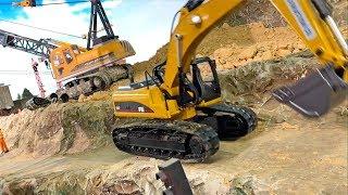 BRUDER Excavator rc Huina 580 rolls into site BRUDER SPIELZEUG für Kinder