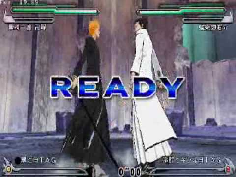 Bleach   heat the soul 5 - Ichigo  Hollow VS Aizen  Gin